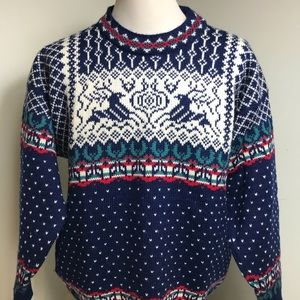 Dale of Norway Men's Wool Ski Sweater Size Large